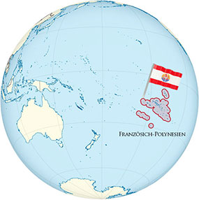 French Polynesia Globe