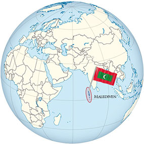 Malediven Globe