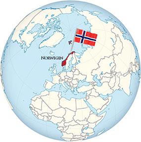 Norway Globe