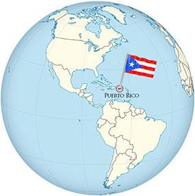 Puerto Rico Globe