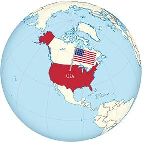 USA Globe